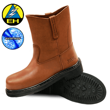 Offshore Safety Boots 1809A Brown Oscar Safety Shoes